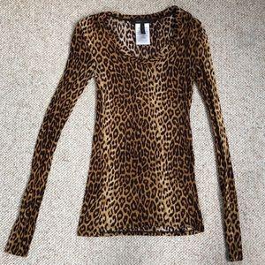 BCBG Cheetah Long Sleeve